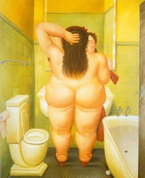 The Bathroom 1989 | Fernando Botero | oil painting