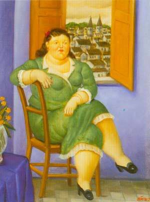 Woman In Front Of The Window 1995 | Fernando Botero | oil painting