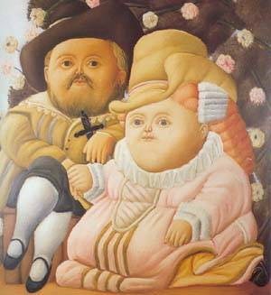 Rubens And His Wife 1965 | Fernando Botero | oil painting