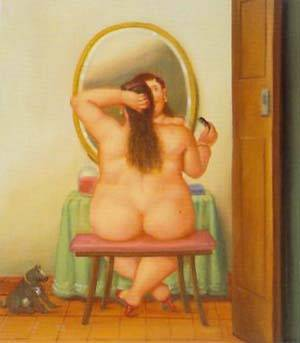 The Toilet 1996 | Fernando Botero | oil painting