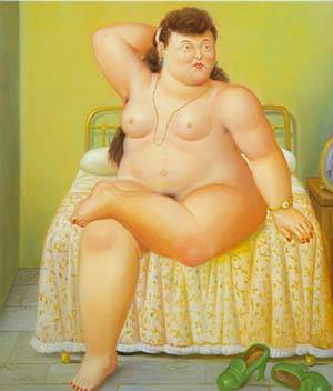 Woman On A Bed 1995 | Fernando Botero | oil painting