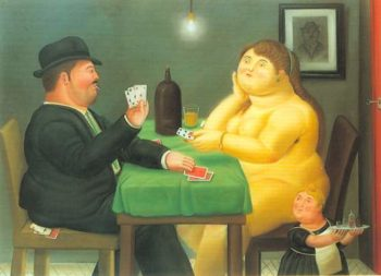 The Card Player 1988 | Fernando Botero | oil painting