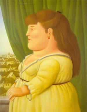 Woman At The Window 1997 | Fernando Botero | oil painting