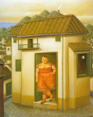 The House 1995 | Fernando Botero | oil painting