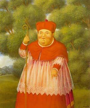 The Bishop In The Woods 1996 | Fernando Botero | oil painting