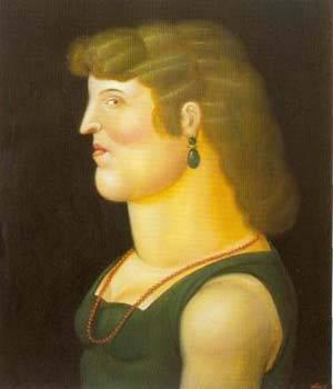 Woamn 1995 | Fernando Botero | oil painting