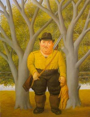 The Hunter 1997 | Fernando Botero | oil painting