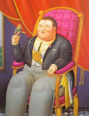 The President 1995 | Fernando Botero | oil painting