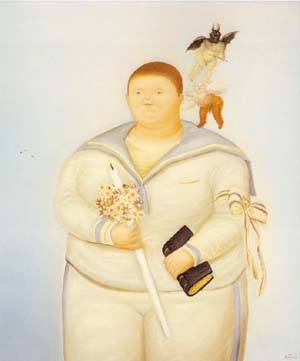 Self-Portrait The Day Of My First Communion 1970 | Fernando Botero | oil painting