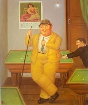 Salon De Billar 1995 | Fernando Botero | oil painting