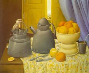 Still Life With Lamp 1997 | Fernando Botero | oil painting