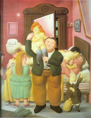 The House Of Amanda Ramirez 1988 | Fernando Botero | oil painting