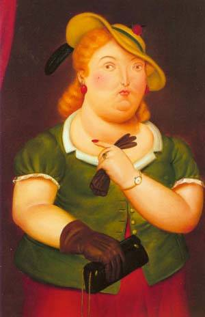 Woman In A Hat 1986 | Fernando Botero | oil painting