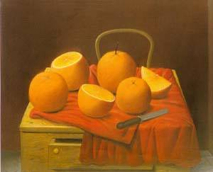 Oranges 1988 | Fernando Botero | oil painting