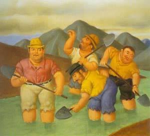 Esmeralderos 1996 | Fernando Botero | oil painting