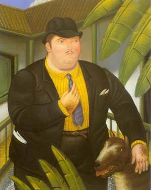 Man With Dog 1989 | Fernando Botero | oil painting