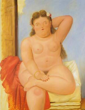 Seated Woman 1989 | Fernando Botero | oil painting
