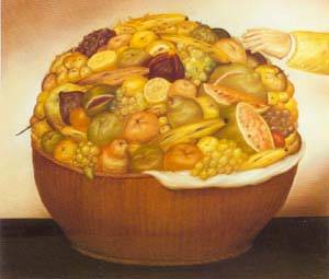 Fruit Basket 1972 | Fernando Botero | oil painting