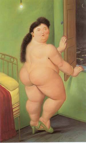 Woman In Front Of The Window 1990 | Fernando Botero | oil painting