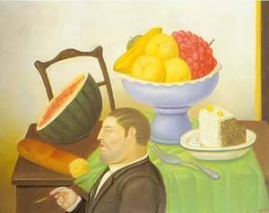 Painter Of Still Life 1994 | Fernando Botero | oil painting