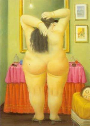 The Bedroom 1997 | Fernando Botero | oil painting