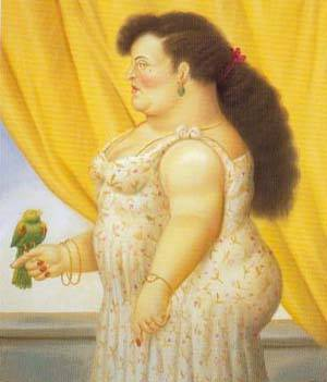Woman With A Bird 1995 | Fernando Botero | oil painting