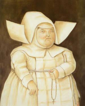 Mother Superior 1996 | Fernando Botero | oil painting
