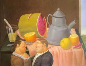 Interior 1995 | Fernando Botero | oil painting