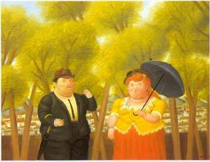 A Man And A Woman 1989 | Fernando Botero | oil painting