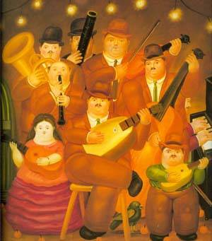 The Musicians 1979 | Fernando Botero | oil painting
