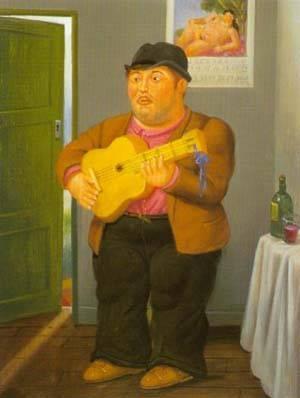Musician 1997 | Fernando Botero | oil painting