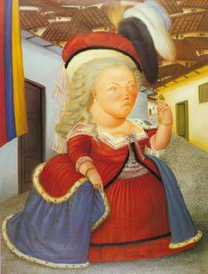 Louis Xvi And Marie Antoinette On A Visit To Medellin Colombia 1990 | Fernando Botero | oil painting