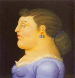 Woman In Profile 1995 | Fernando Botero | oil painting