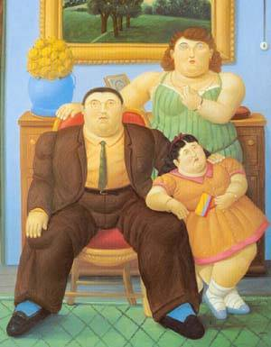 Colombian Family 1999 | Fernando Botero | oil painting