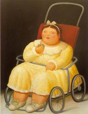 Girl 1996 | Fernando Botero | oil painting