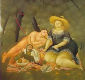 Le Dejeuner Sur I Herbe 1969 | Fernando Botero | oil painting