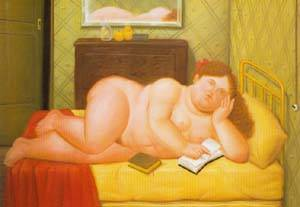 Colombiana 1991 | Fernando Botero | oil painting