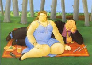 Picnic 1998 | Fernando Botero | oil painting