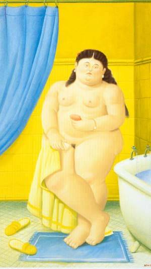 The Bathroom 1999 | Fernando Botero | oil painting