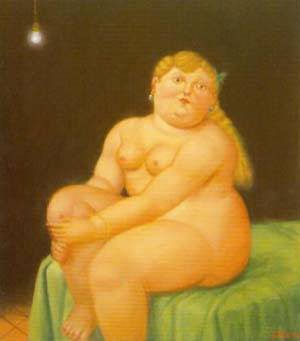 Woman Seated On Bed 1996 | Fernando Botero | oil painting