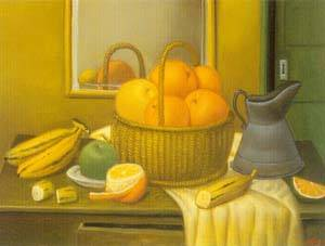 Still Life With Fruit Basket 1996 | Fernando Botero | oil painting