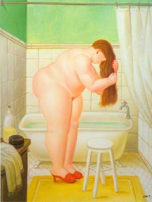 The Bathroom 1995 | Fernando Botero | oil painting
