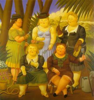 The Gardening Club 1997 | Fernando Botero | oil painting