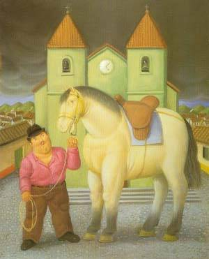 Man And Horse 1997 | Fernando Botero | oil painting