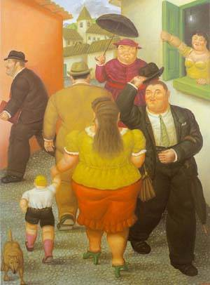 The Street 1995 | Fernando Botero | oil painting