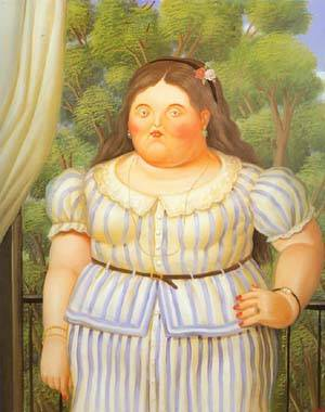 Woman On A Balcony 1995 | Fernando Botero | oil painting