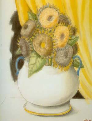 Sunflowers 1995 | Fernando Botero | oil painting