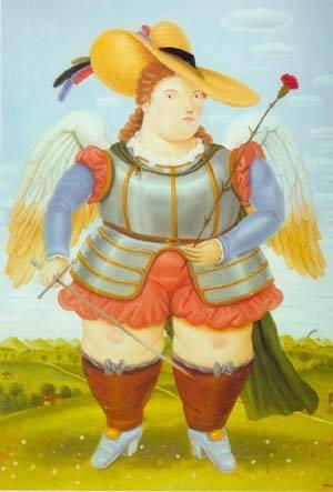 Saint Michael Archangel 1986 | Fernando Botero | oil painting