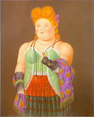 Society Lady 1994 | Fernando Botero | oil painting