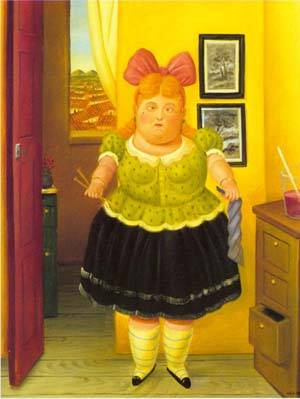 The Seamstress 1990 | Fernando Botero | oil painting